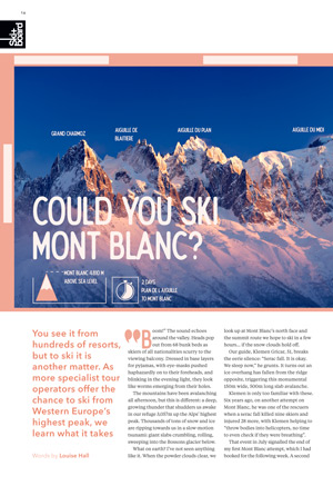 Could you ski Mont Blanc?