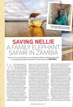 On Family Safari - Saving Nellie: Walking With Elephants in the Lower Zambezi, Zambia